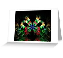 Masked Reflections Greeting Card