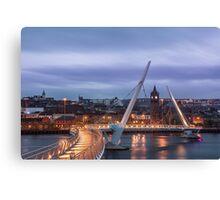 Peace Bridge in Derry Canvas Print