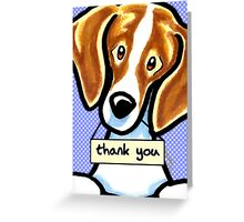 Beagle Thank You Cards Greeting Card