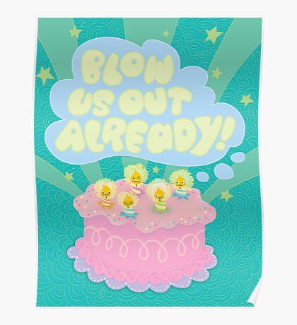 Angry Birthday Cake...  Poster