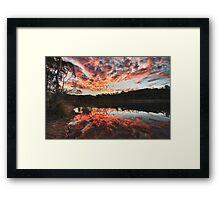 Dunns Swamp Sunset Framed Print