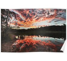 Dunns Swamp Sunset Poster
