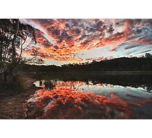 Dunns Swamp Sunset Photographic Print