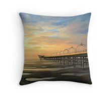 Low-Tide in Southport Throw Pillow
