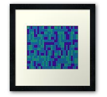 Lo Res Blu Noise Framed Print