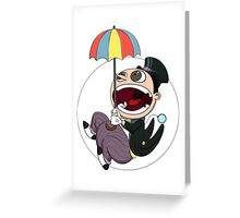 Penguin drops in Greeting Card
