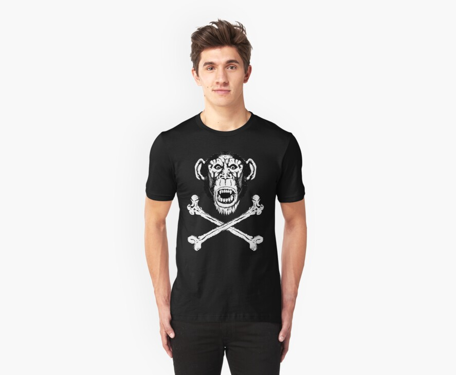 Chimp and cross-bones by ZugArt