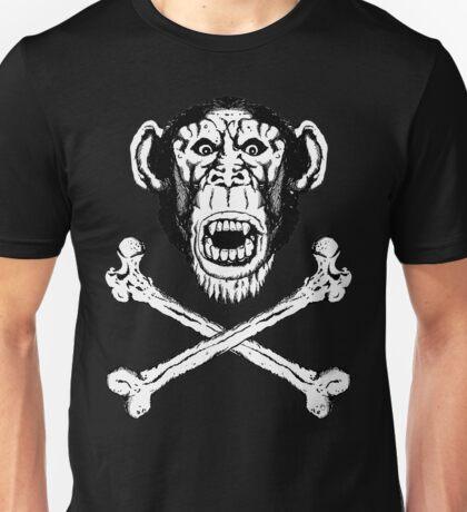 Chimp and cross-bones Unisex T-Shirt