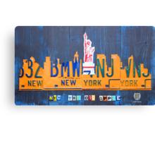 New York City Skyline License Plate Art NYC USA Canvas Print