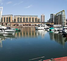 Wide-angle Panorama of Limehouse Basin by John Gaffen