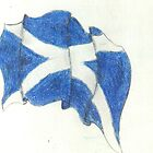 Scotland Flag by lighthousegrphx