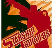 Starship Troopers Propaganda Poster by Jerrywinnett