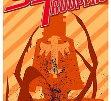 Starship Troopers, Mecha Trooper Propaganda by Jerrywinnett