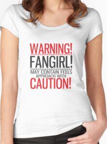 WARNING! FANGIRL (II) Women's Fitted Scoop T-Shirt