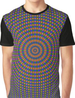 Sphere in Blue Green and Red Graphic T-Shirt
