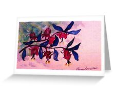 Fushia, watercolor Greeting Card