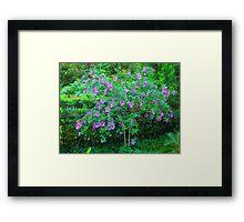 HAPPY BLUE FLOWERS Framed Print