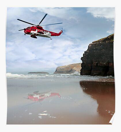 air sea rescue coast search Poster