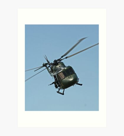 Lynx Helicopter Art Print
