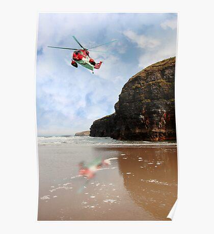 air sea rescue coastal search Poster