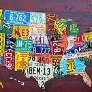 License Plate Art Calendar by Design Turnpike by designturnpike