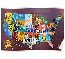 License Plate Map of The United States 2012 Edition 3 Poster