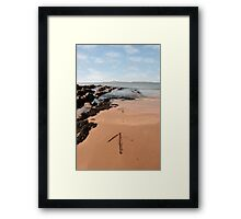 arrows in the sand Framed Print
