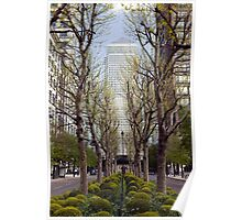 Springtime at One Canada Place Poster