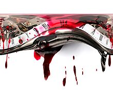 Bloody Timeline Photographic Print