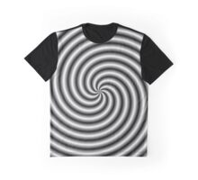 Swirl in Black and White Graphic T-Shirt