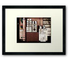 Workers desk Framed Print