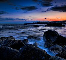 Dramatic riviera sunset by Andrea Rapisarda