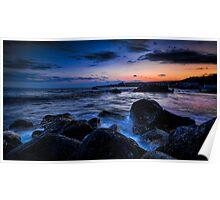 Dramatic riviera sunset Poster