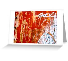 """""""Writings On The Red Wall"""" Greeting Card"""