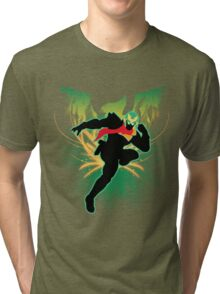 Super Smash Bros. Green Captain Falcon Silhouette Tri-blend T-Shirt