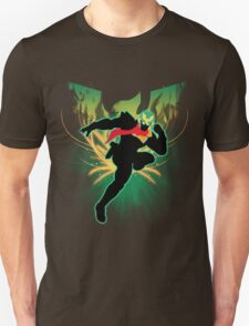 Super Smash Bros. Green Captain Falcon Silhouette Unisex T-Shirt
