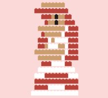 8-Bit Brick Peach One Piece - Short Sleeve