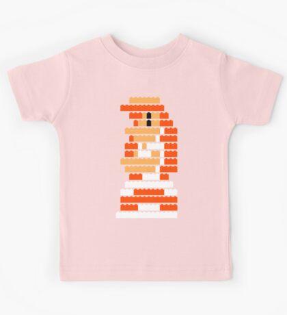 8-Bit Brick Peach Kids Tee