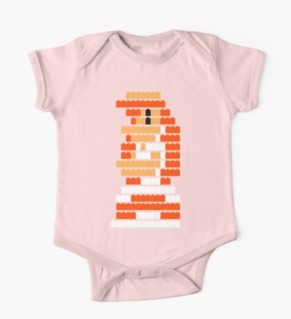 8-Bit Brick Peach One Piece - Short Sleeve