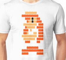 8-Bit Brick Peach Unisex T-Shirt