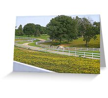 Horse Ranches.....and white fences! Greeting Card