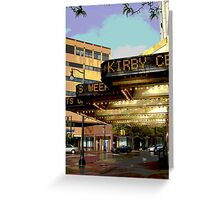 """The Kirby Center"" Greeting Card"