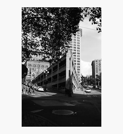 Sinking ship parking garage Photographic Print