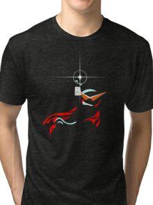 Kamina Squirtle - Shining Drill version Tri-blend T-Shirt