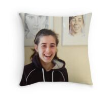 Justine & Justine III Throw Pillow