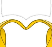 Gay Pride Bananas Heart Sticker
