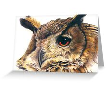 Portrait of an eagle owl Greeting Card