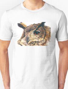 Portrait of an eagle owl Unisex T-Shirt