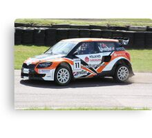 Guttorm Lindefjell - Skoda Fabia WRC Canvas Print