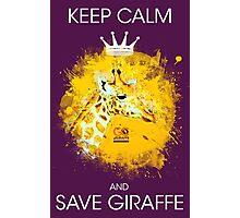 Giraffe on Yellow Photographic Print